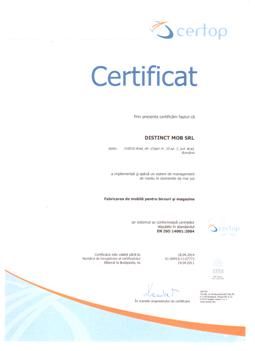 Certificat 9.6 ISO14001