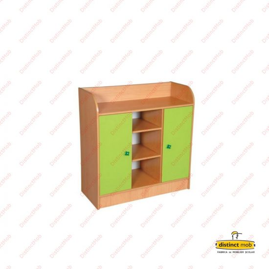Mobilier gradinita | dulap doua usi coloana polite | DGM 2.6 producator DistinctMob