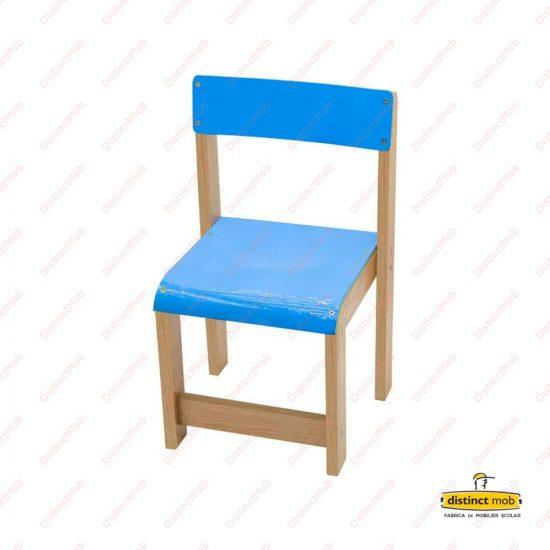 scaun lemn gradinita albastru