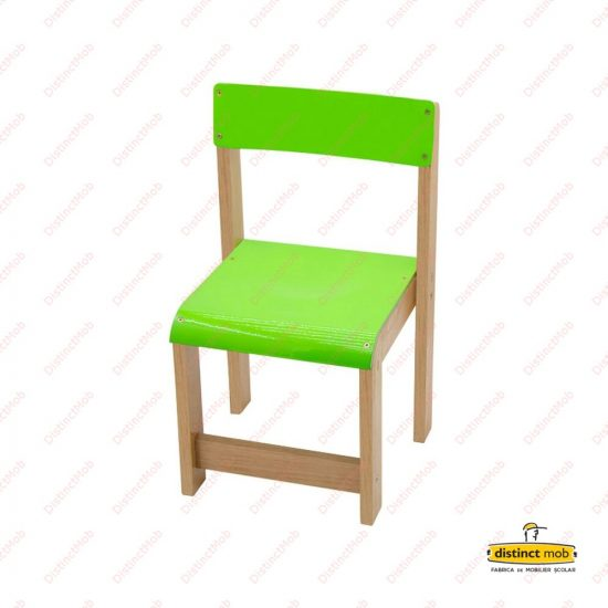 scaun lemn gradinita verde
