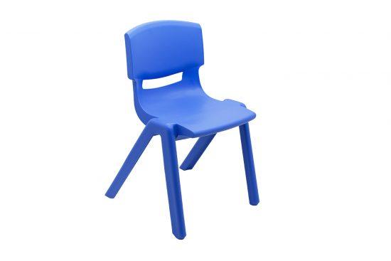 Scaun plastic copii albastru