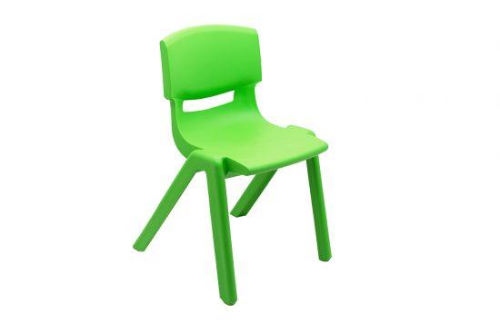 Scaun plastic copii verde