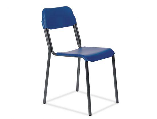 Scaun pentru elevi - plastic albastru